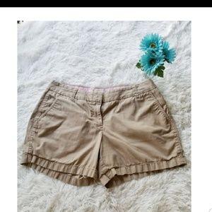 J. Crew Chino Shorts Khaki Size 8